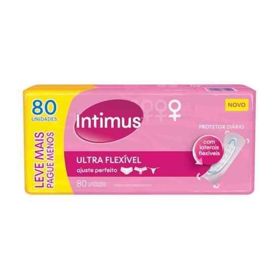 Imagem de    protetor diário intimus sem abas e sem perfume ultra flexível leve 80 pague 60 unidades