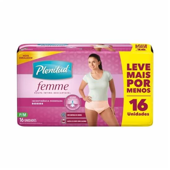 Imagem de    roupa íntima plenitud active mulher tamanho p/m leve 16 pague 15 unidades
