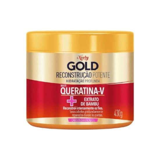 Imagem de Creme para tratamento niely gold queratina reparação 430g