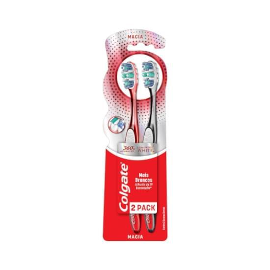 Imagem de Escova dental colgate 360º luminous white leve 2 pague 1 unidade