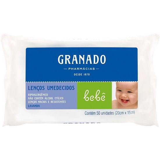 Imagem de Lenço umedecido infantil granado bebê lavanda | com 50 unidades