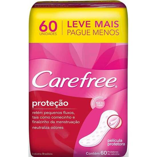 Imagem de Protetor diário carefree sem abas com perfume original leve 60 pague 50 unidades