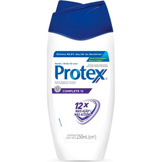 Imagem de Sabonete líquido antibacteriano protex complete 12 250ml