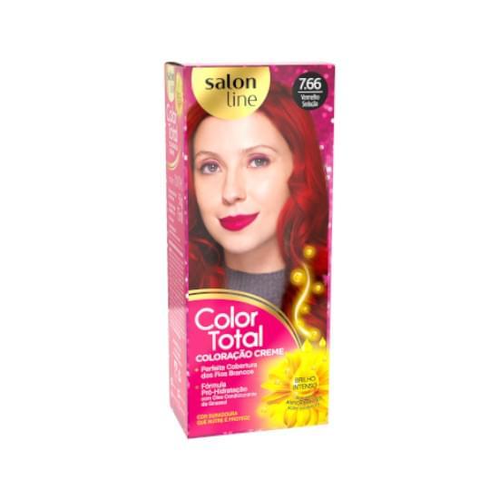 Imagem de Kit tintura color total 7.66 vermelho sedução