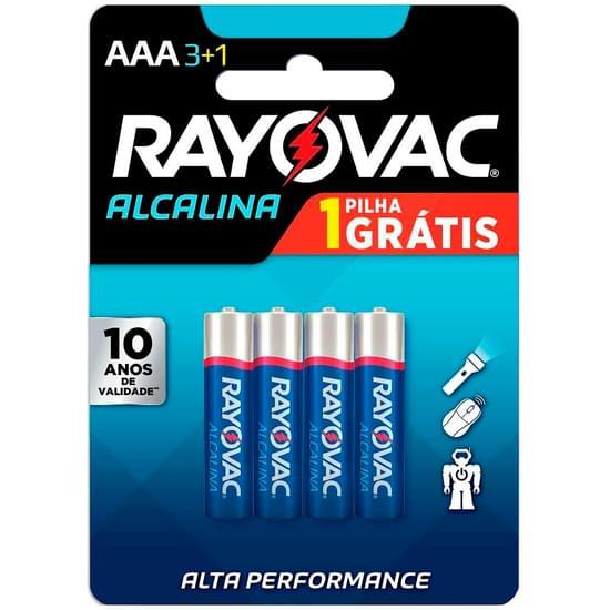 Imagem de Pilha rayovac alcalina aaa palito leve 4 pague 3 unidades