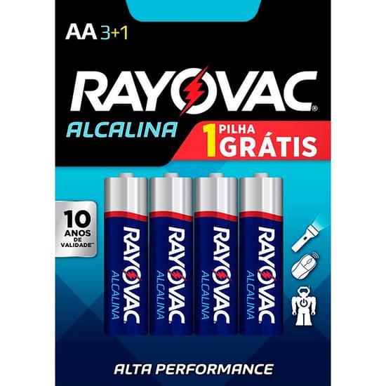 Imagem de Pilha rayovac alcalina aa pequena leve 4 pague 3 unidades