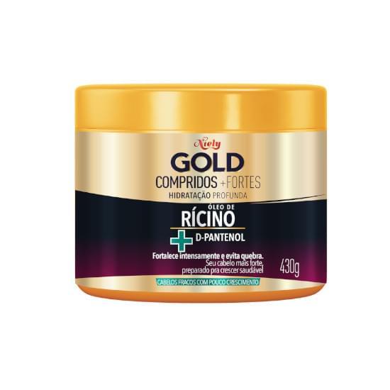 Imagem de Creme para tratamento niely gold compridos + fortes 430g
