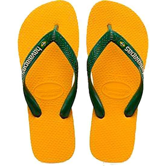Imagem de Sandália havaianas unissex brasil logo amarelo banana 37/38
