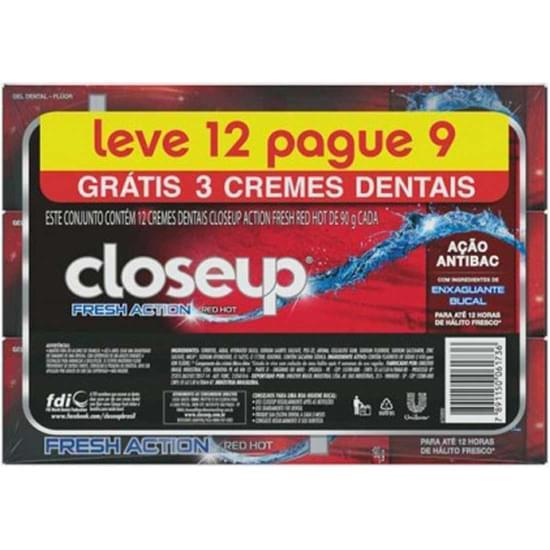 Imagem de Gel dental close up red hot fresh 90g | pack com 12 unidades leve mais pague menos