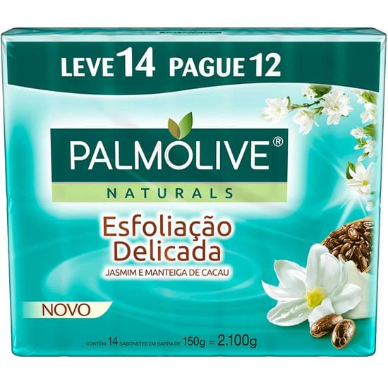 Imagem de Sabonete em barra palmolive esfoliação delicada 150g | leve 14 pague 12 unidades