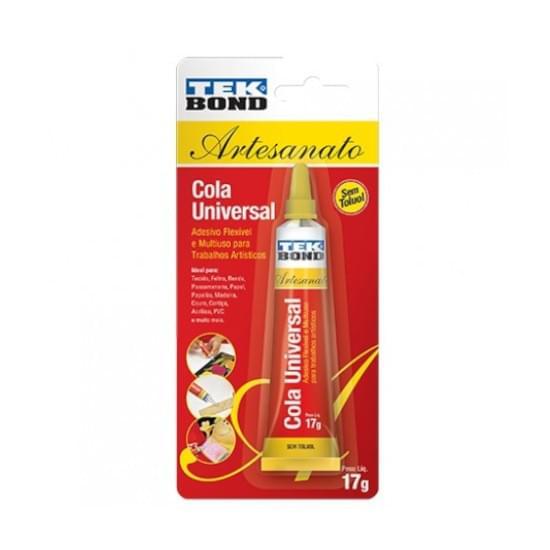 Imagem de Cola instantânea super cola universal artesanato 17g tekbond
