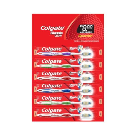 Imagem de Escova de dente colgate classic clean 6 unid promo