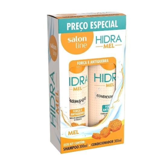 Imagem de Kit shampoo + condicionador hidra mel 300ml - salon line