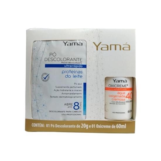 Imagem de Kit pó descolorante yamá proteínas do leite 20g + água oxigenada 40 volumes 60ml