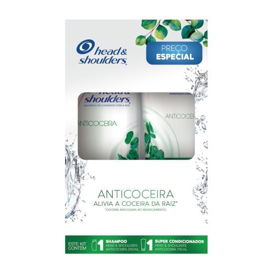 Imagem de Kit shampoo 200ml + super condicionador 200ml head & shoulders anticoceira