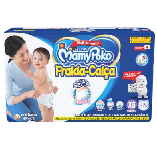 Imagem de Fralda-calça infantil mamypoko hiper tamanho xg   com 42 unidades