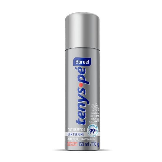 Imagem de Desodorante antisséptico tenys pé baruel aerossol sem perfume 110g
