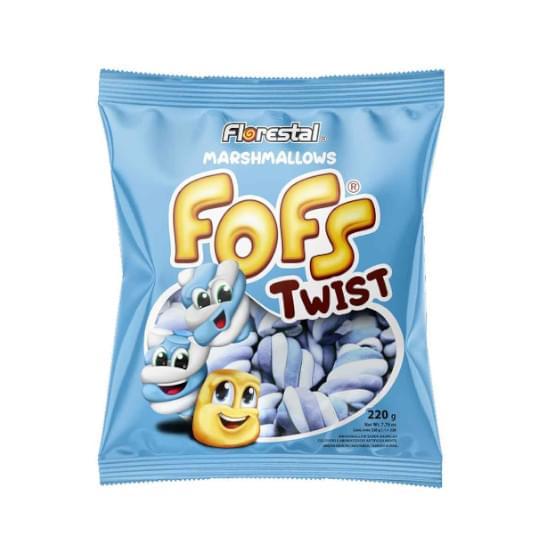 Imagem de Fofs marshmallow twist azul e branco 220g